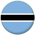 Botswana Country Flag 25mm Flat Back